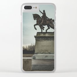 St. Louis Statue Clear iPhone Case