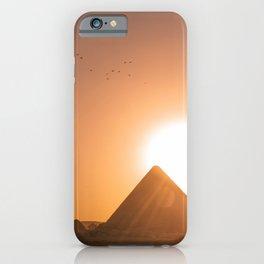 Pyramids of Giza Egypt at Sunset Photography, Egypt Travel iPhone Case