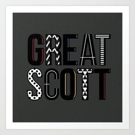 great scott 2 Art Print