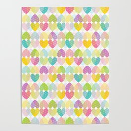Colorful Sweet Candy Heart Pattern I Poster