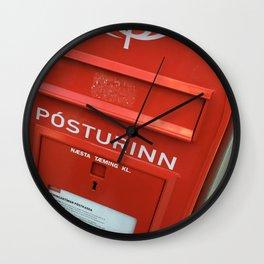 Iceland Post Office Box Wall Clock