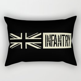 British Military: Infantry (Black Flag) Rectangular Pillow