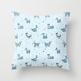 DOGs, DOGs, DOGs Throw Pillow