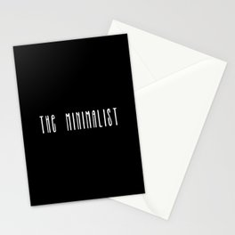 Minimalist text in black and white Stationery Cards
