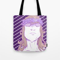 religion Tote Bags featuring Alt religion by trenzy