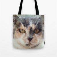 minnie Tote Bags featuring Minnie by Teresa Pople