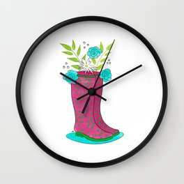 Summer Rain Golashes Wall Clock