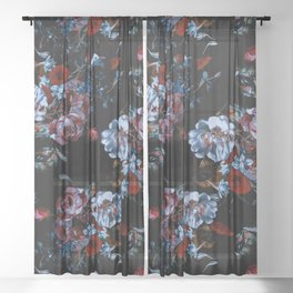 Night Garden XXXVII Sheer Curtain