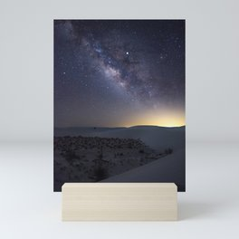 The Milky Way Over White Sands National Monument Mini Art Print