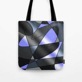 ABSTRACT CURVES #2 (Grays & Light Blue) Tote Bag