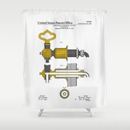 Beer Faucet Patent Shower Curtain