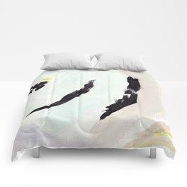 Twirl: Grey Comforters