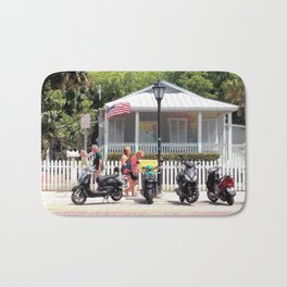 Motor Bikes and Picket Fence Bath Mat