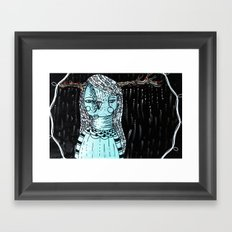 Raining Branches Framed Art Print