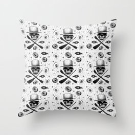 All-seeing death Throw Pillow