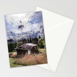 Broken house Stationery Cards