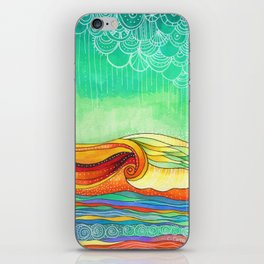 Multicolor Wave iPhone Skin