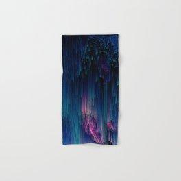 Glitchy Night - Abstract Pixel Art Hand & Bath Towel
