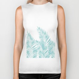Palm Leaves Island Paradise Biker Tank