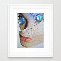 gem Framed Art Prints featuring GEM by ALEX WAS HERE