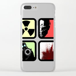 Zombie Control Clear iPhone Case