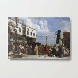 Alexandre-Jean-Baptiste Hesse, French, 1806-1879  The Funerary Honors Rendered to Titian Metal Print