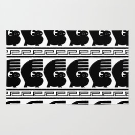 Chan Chan pattern - black and white Rug