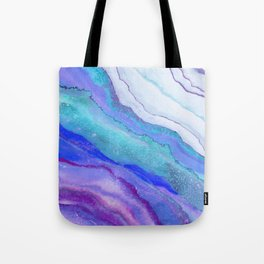 AGATE Inspired Watercolor Abstract 07 Tote Bag