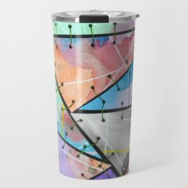Frankienstein Sewing Abstract Art Watercolour and Metal II Travel Mug