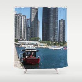 Chicago Fire Department, Chicago Shoreline, Skyline Shower Curtain