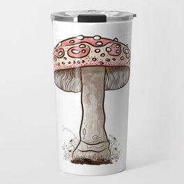 Amanita Muscaria Mushroom Art Travel Mug