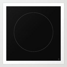 The White Circle Art Print