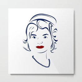 Jackie Kennedy - Hairography Jackie O Metal Print