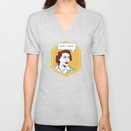 Ruth Barcan Marcus Unisex V-Neck
