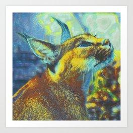 Caracal Dreaming II Art Print