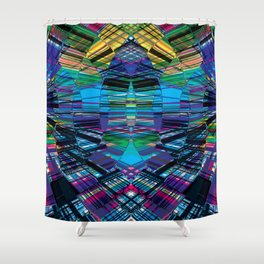 Cyber dimension Shower Curtain