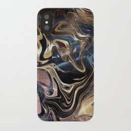 Liquid Gold Marble iPhone Case