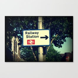 Railway Station Sign Canvas Print