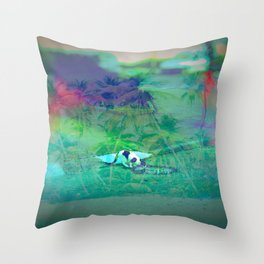 Cat Island in the City Throw Pillow