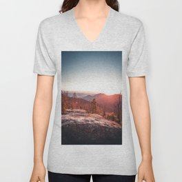 Sunrise Mountain (Color) Unisex V-Neck