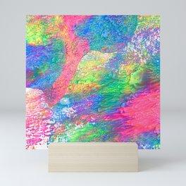 Rainbow Paint Splatter Mini Art Print
