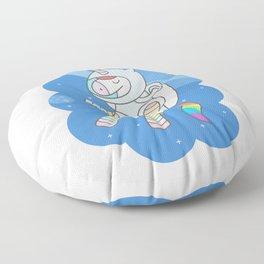 Unicorn Astronaut Floor Pillow