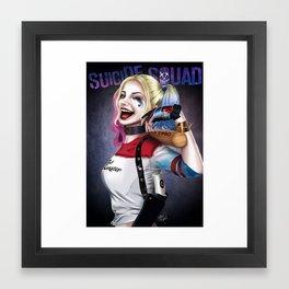 Harley_Suicide Squad_art Framed Art Print