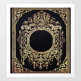 Ornate Gold Frame Book Cover Art Print