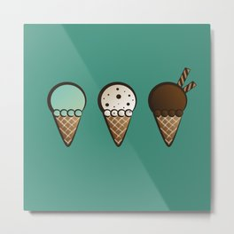 ice cream Metal Print