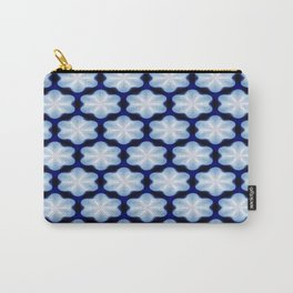Petite Flowers Blue Carry-All Pouch