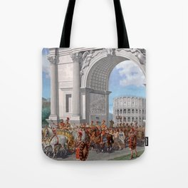 Classical Masterpiece: Roman Legion in Triumphal Procession by Herbert Herget Tote Bag