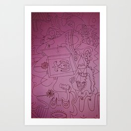 skribb skribbs 6 Art Print