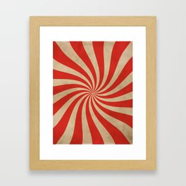 Big Top Aged Print in Red Framed Art Print