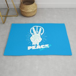 Peace not war | peace and love Rug